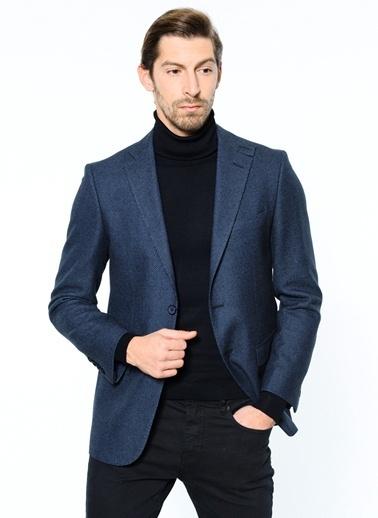 Daffari Yün Blazer Ceket Lacivert